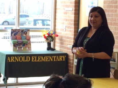 "Katanna Sanchez-Larralde leads ""Take Control"" a parent class at Arnold Elementary School."