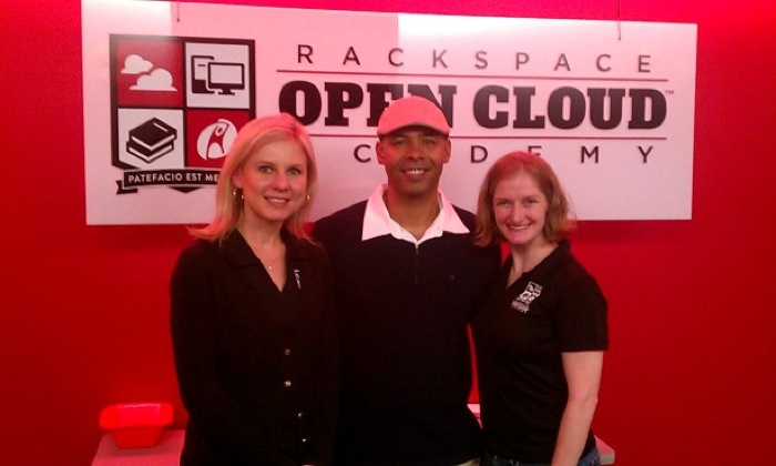 Open Cloud Academy Project Manager Deborah Carter, Rackspace Director of Learning and Development Duane LaBom, and Academy Graduate Maeve Goetz all spoke at the event