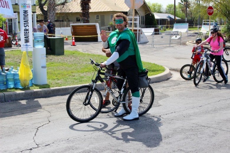 Part of the fun of Siclovia is the colorful characters. Photo by Page Graham.