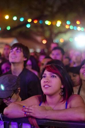 A young woman enjoys live music at La Villita during the 2013 Maverick Music Festival. Photo by Francisco Cortes.