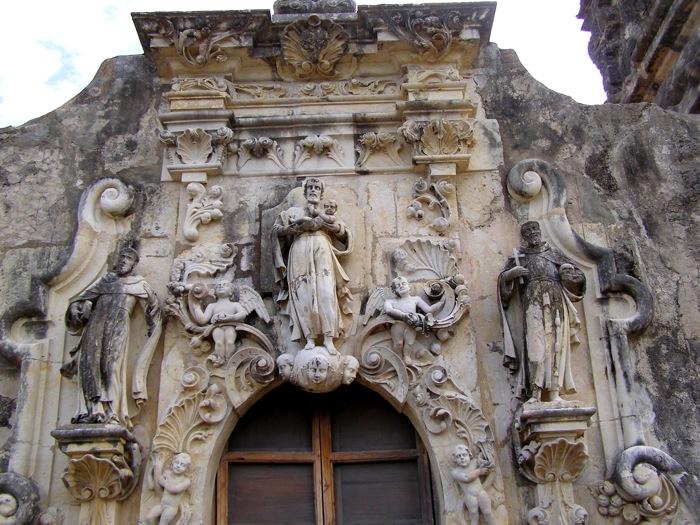 Mission San José facade after renovation. Photo courtesy of the San Antonio Conservation Society.
