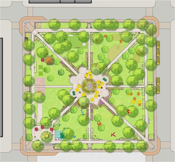 Travis Park conceptual design. Image courtesy of Project for Public Spaces.