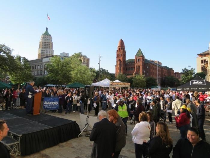 The 2013 Walk and Roll Rally. Photo courtesy of Alamo Area MPO.