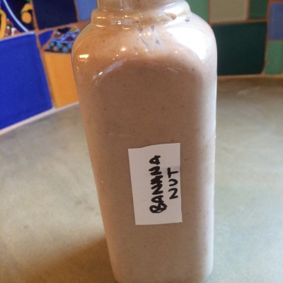 Banana nut shake from One Lucky Duck cleanse. Photo by Claudia Zapata.