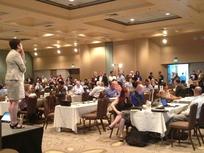 Elevator pitch practice at the 2013 Cleantech Open Academy in Santa Clara, Calif. Photo courtesy of Cleantech Open.