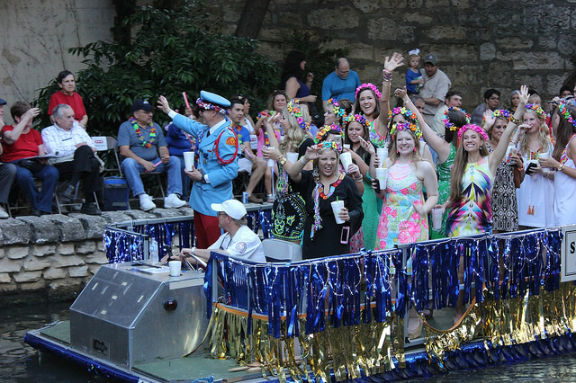 The Fiesta 2014 Texas Cavaliers River Parade. Photo by Doug CohenMiller.