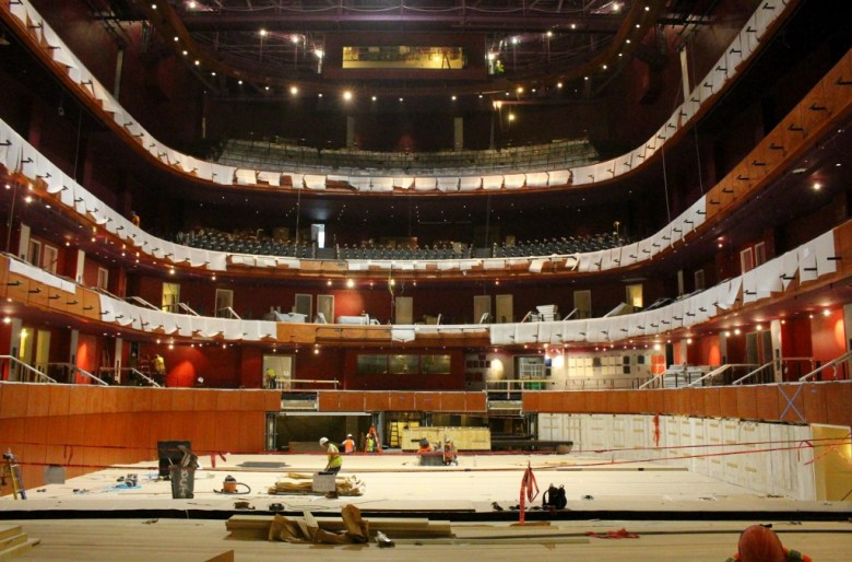 The view from center stage at The Tobin Center for the Performing Arts. Photo by Page Graham.