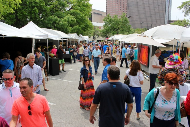 One of the distinguishing features of Fiesta Arts Fair is the laid-back crowd. Photo by Page Graham.