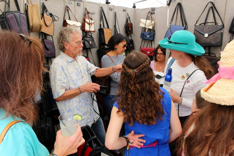The Roche Leatherworks booth stays consistently packed throughout the event. Photo by Page Graham.
