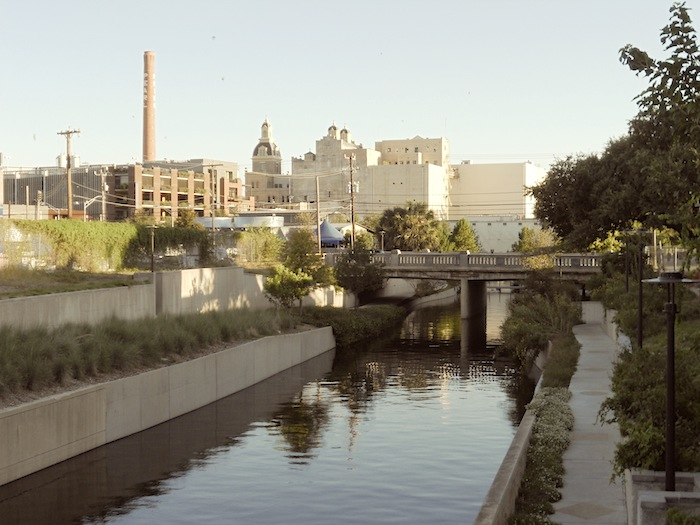 """The Pearl Brewery complex, as seen from """"Midtown."""" Photo by Chrissy Breit."""