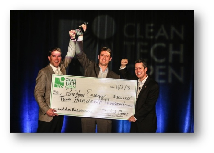 """The Cleantech Open (www.cleantechopen.org), the world's largest clean-technology accelerator, awarded PowWow Energy of Sunnyvale, California the Grand Prize """"Cleanie"""" award for the 2013 Top Cleantech Entrepreneur of the year."""