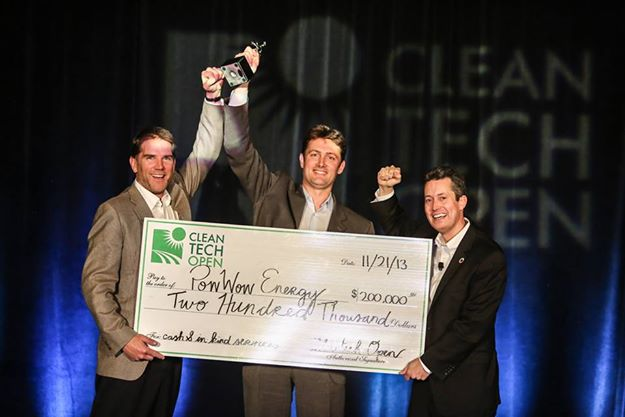 """The Cleantech Open, the world's largest clean-technology accelerator, awarded PowWow Energy of Sunnyvale, California the Grand Prize """"Cleanie"""" award for the 2013 Top Cleantech Entrepreneur of the year."""