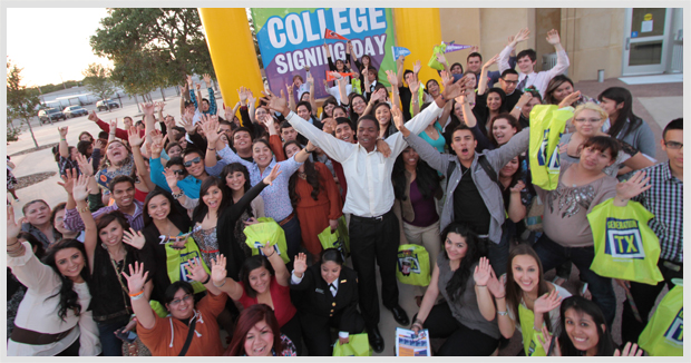 College Signing day 2012. Photo courtesy of SA2020.