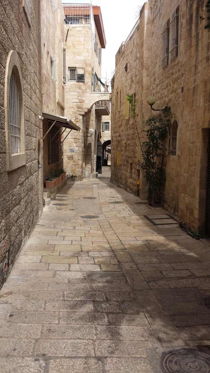 A typical street in the Old City (of stone) Jerusalem. Courtesy photo.