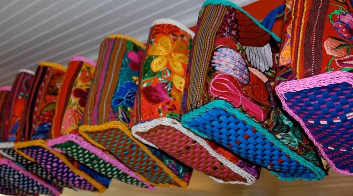 Prida Design's colorful and seasonal Fiesta bags. Photo by Veronica Prida.