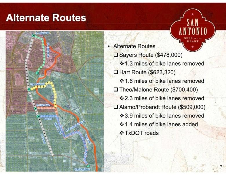 4-21-14 Public Meeting_south flores bike alternative Routes_mapslide