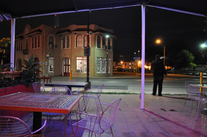 The old Fire House No.7 as seen from Alamo Street Eat Bar. Photo by Iris Dimmick.