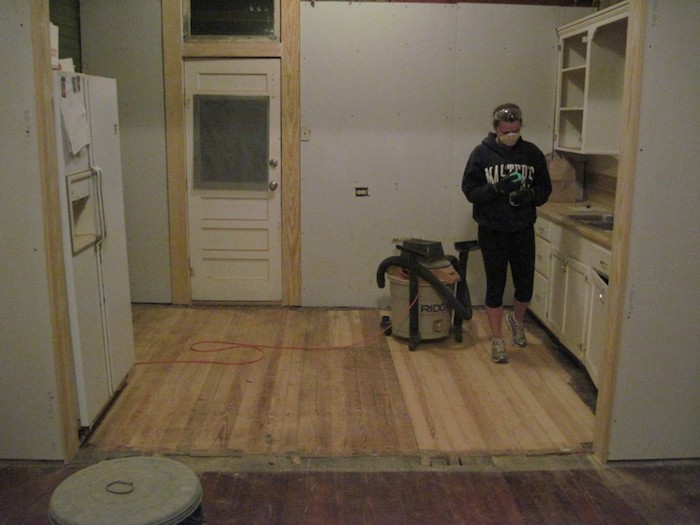 Bekah and Lewis McNeel's kitchen before renovation. Author photo.
