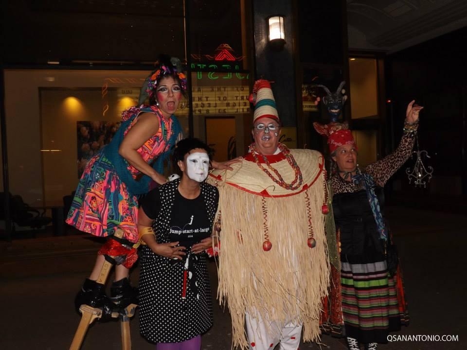 Performers pose for a photo during Cornyation 2014. Photo courtesy QSanAntonio.com