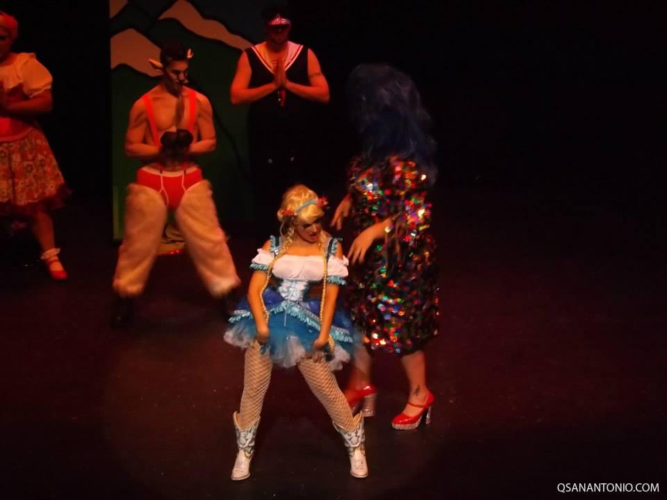 Volunteer actors perform during Cornyation 2014. Photo courtesy of QSanAntonio.com.