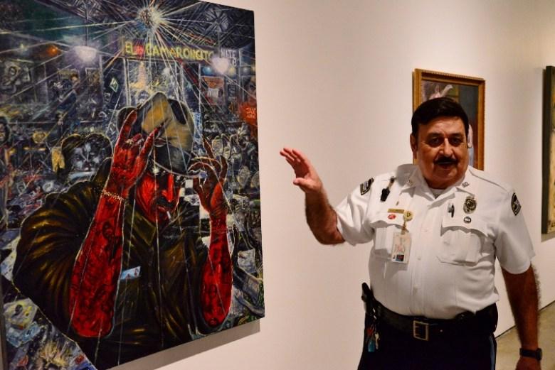 Zenaido Luis Cantu talks about El Camaroncito. Photo by Page Graham.