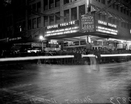 An historic photo of the Empire Theatre. Courtesy of the Majestic Theatre and The Charline McCombs Empire Theatre.