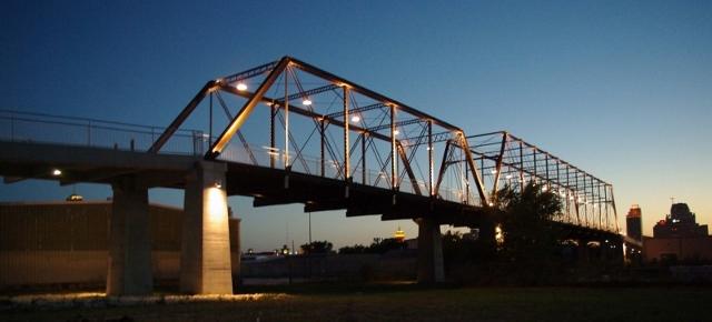 The historic Hays Street Bridge at sunset. Photo by Juan Garcia.