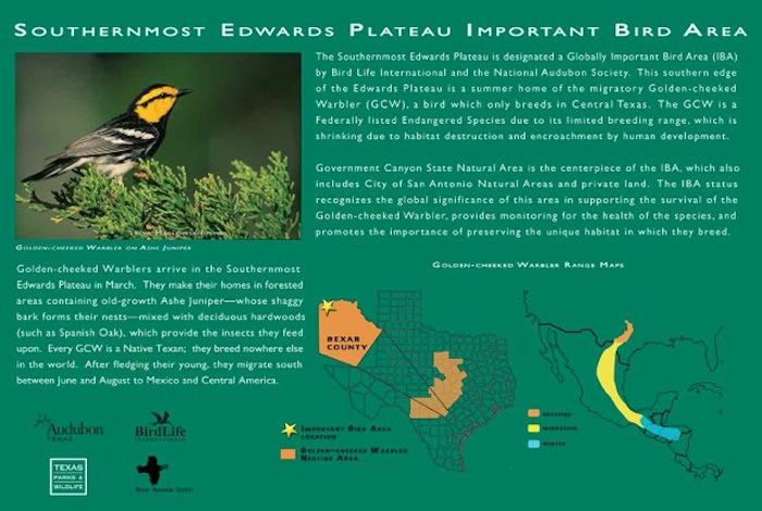 Southernmost Edwards Plateau Important Bird Area Map. Map provided by Mitchell Lake Audubon Center.