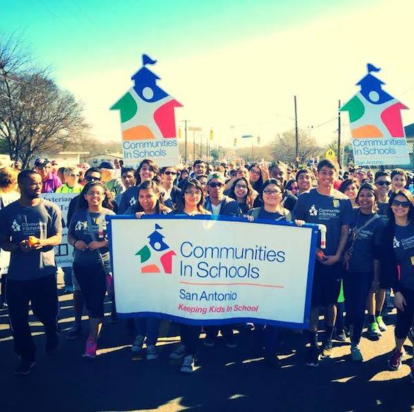 The Communities in Schools brigade during the 2014 MLK March. Photo courtesy of CIS Facebook page.
