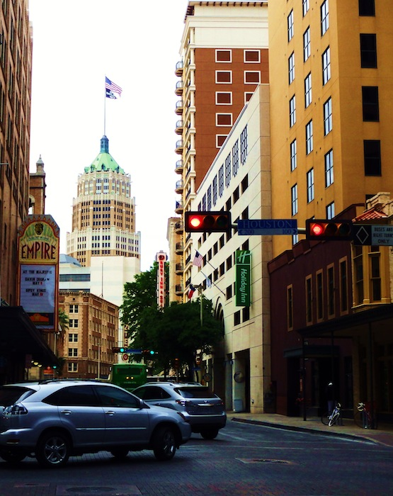 The Empire Theatre as seen from the intersection of St. Mary's and Houston Streets in downtown San Antonio. Photo by Miles Terracina.