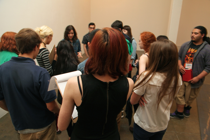 Members of the 2013-2014 You[th]Pace Teen Art Council explore Artpace exhibitions