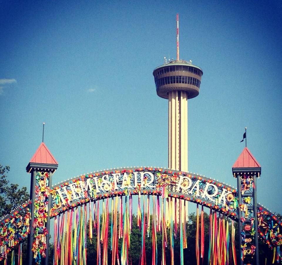 Hemisfair Park during Fiesta. Photo submitted by Mitze Moore.