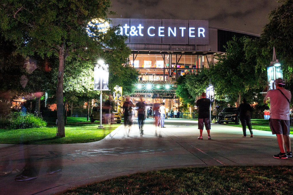 "The AT&T Center will serve as a ""mega-vote center"" to allow for social distancing during the November election."