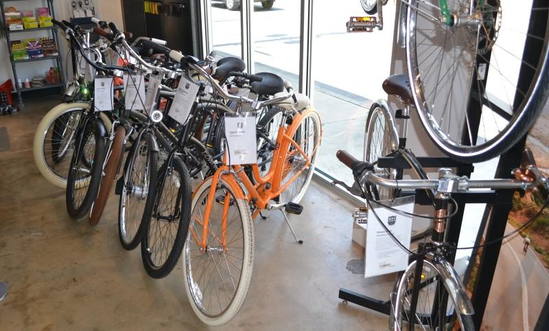 A selection of bikes at Bike World. Photo by David Garza.