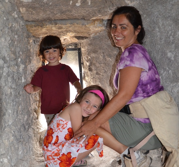 Cherise Rohr-Allegrini with her ergo and her two children after a day of hiking. Courtesy photo.