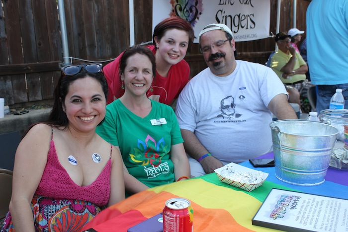 Emily Leeper, her daughter and Fiesta Youth volunteers. Photo by Melanie Robinson.