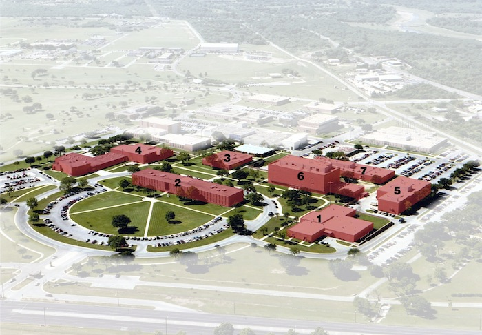 Rendering of the new UIW School of Osteopathic Medicine at Brooks City Base. Courtesy image.
