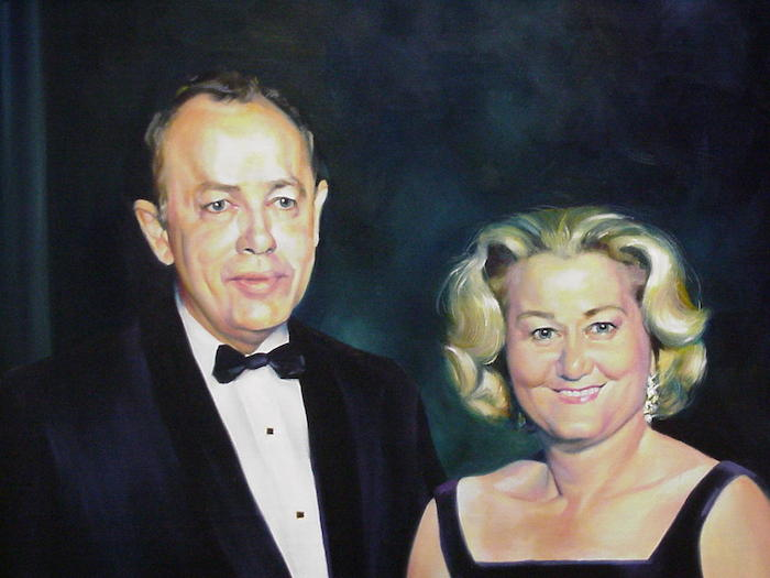 A painting of Albert and Bessie Mae Kronkosky Jr.