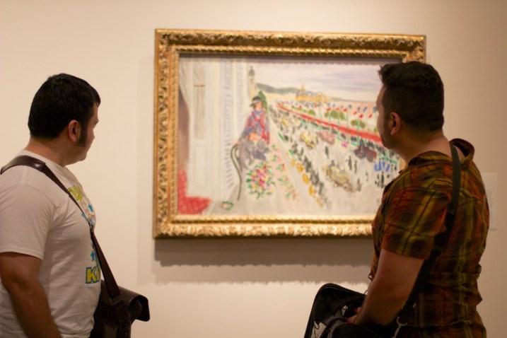 Richard Hurtado and Hugo Rendon at the grand opening of Matisse life in Color at SAMA. June 14, 2014. Photo by Taylor Browning.