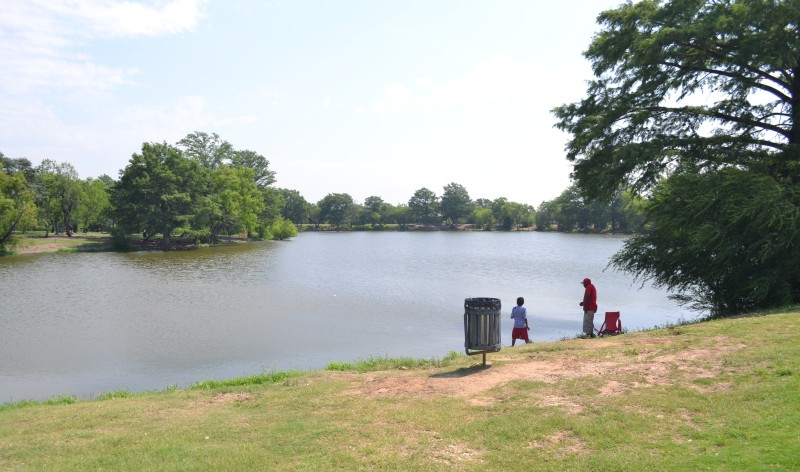 Southside Lions Park offers plenty of trout, catfish, and space for an afternoon of fishing. Photo by David Garza.