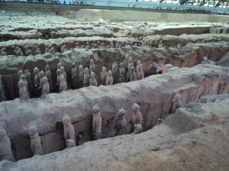 The Terracotta Army, a collection of status dating back from the 2nd century, B.C. but only recently discovered in 1974. Photo courtesy Salma Mendez and Zack Dunn.