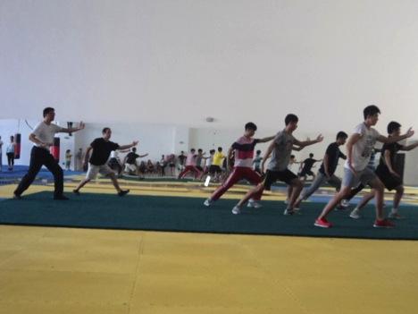 Students practice Tai Chi at Heibei University. Photo courtesy Salma Mendez and Zack Dunn.