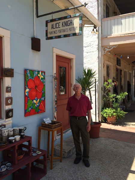 Jack and Alice Knight operate Alice Knight on Alamo Street at the La Villita Historic Arts Village. Their shop is expected to become a retail space. Photo by Katherine Nickas.