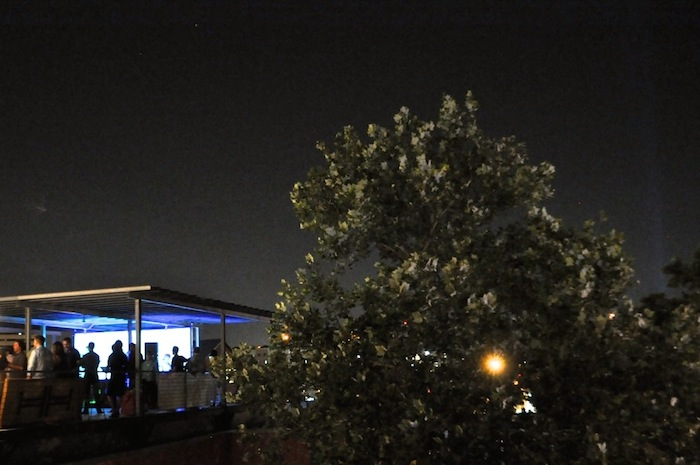 The Hardbop Project payed tribute to Art Blakey and the Jazz Messengers during the July installation of Artpace's Rooftop Concert Series. Photo by Iris Dimmick.