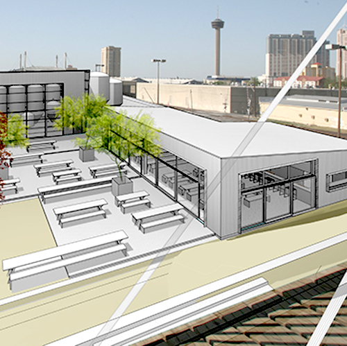 View of future Alamo Beer brewery from Hays Street Bridge. Rendering courtesy of Lake/Flato Architects. The Hays Street Bridge Restoration Group said the property was supposed to be used as a public park rather than for economic development.