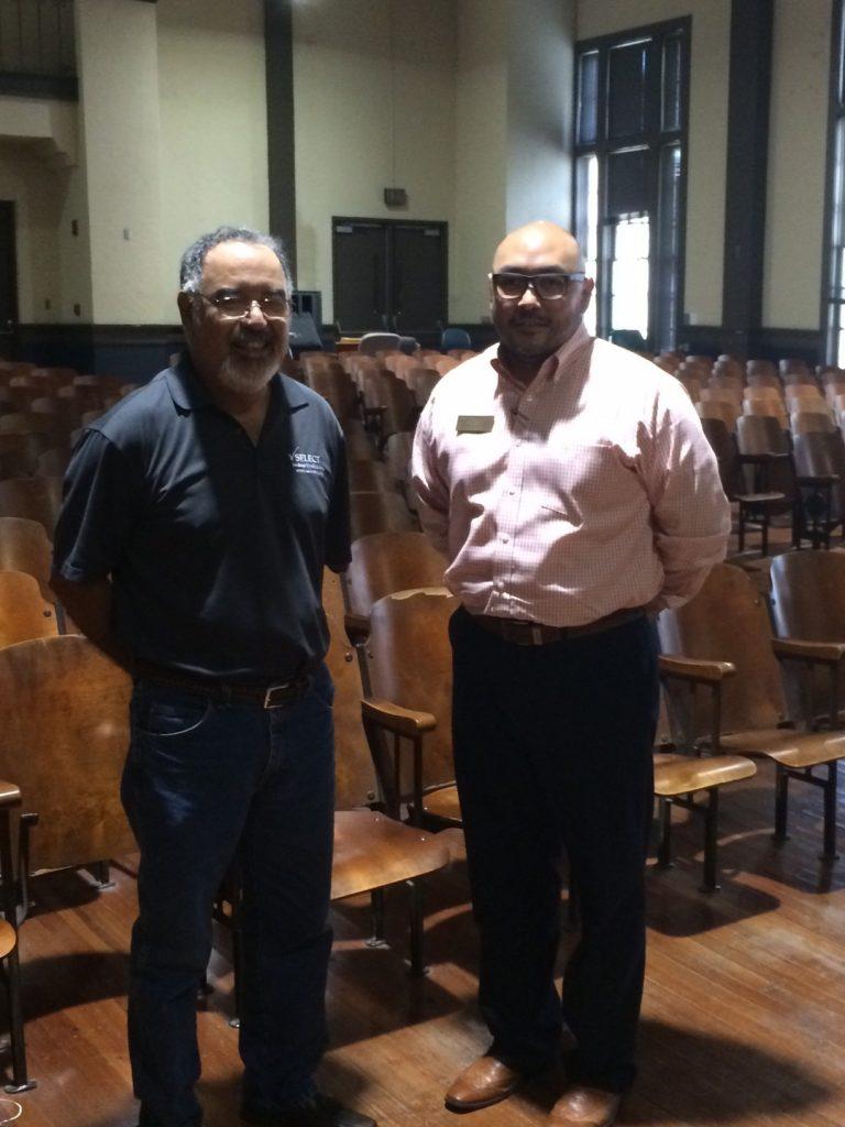 Juan Garcia (l) and John Garcia at Ella Austin Community Center