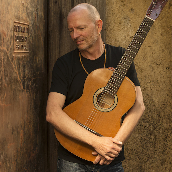 """Ottmar Liebert on the cover of one his two new albums out this year, """"Bare Wood."""" Courtesy photo by Greg Gorman."""