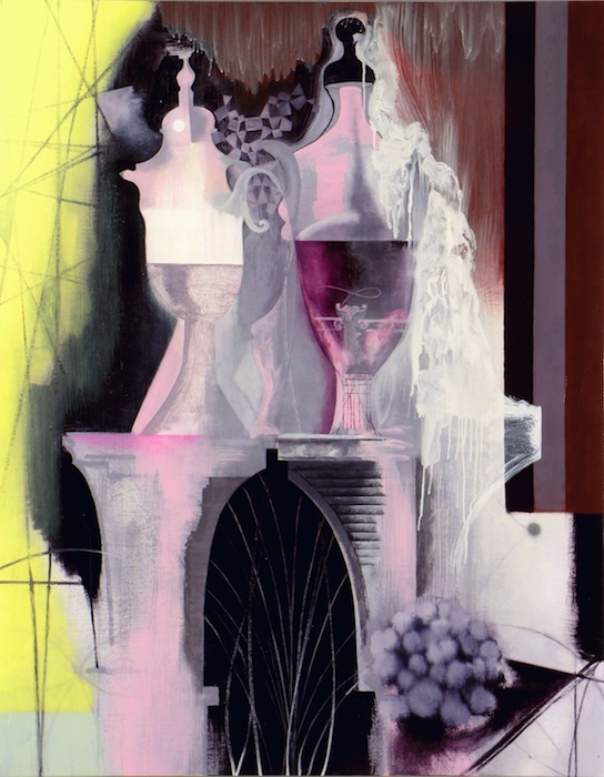 Rosalyn Schwartz, The Big Perfume, 2006. Oil on canvas, 66 x 52 in. Courtesy of the artist.