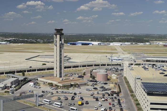 Aerial view of SAT International Airport. Photo courtesy of the San Antonio Internaional Airport