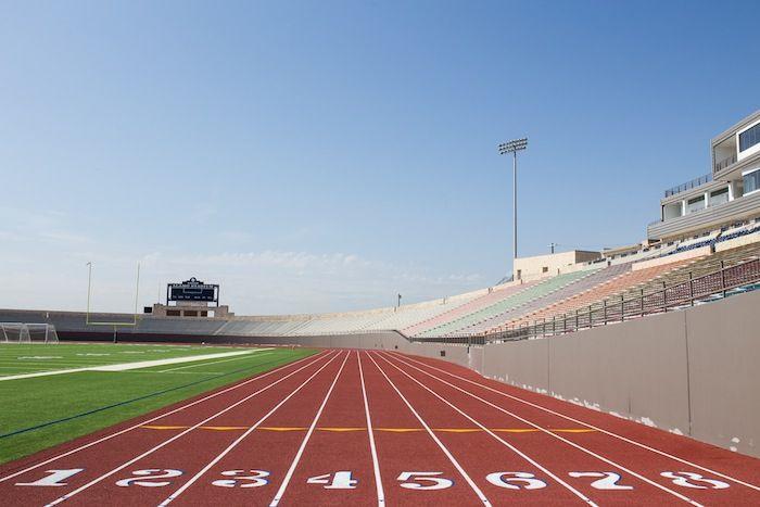 The new track at Alamo Stadium. Photo by Scott Ball.